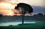 Montgomerie Maxx Royal Golf Course, early morning mist on the montgomerie royal maxx golf course