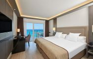 The Melia Alicante Hotel's scenic sea view double bedroom situated in dramatic Costa Blanca.