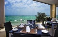 The Melia Alicante Hotel's impressive sea view restaurant situated in staggering Costa Blanca.