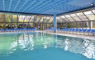 The Melia Benidorm Hotel's lovely indoor pool in striking Costa Blanca.