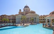 The Melia Villaitana Hotel's beautiful main pool situated in spectacular Costa Blanca.