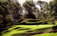 The Golf de Barbaroux's lovely golf course situated in vibrant South of France.