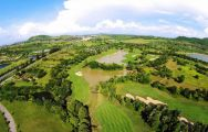 ariel view of laem chabang golf course