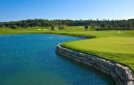 The Laranjal Golf Course's picturesque golf course in dazzling Algarve.