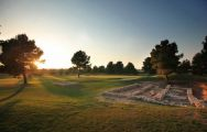 View Lumine Lakes Golf Course's beautiful golf course within dramatic Costa Dorada.