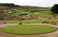 a trick par 3 at the Alhama Signature Golf course, Murcia