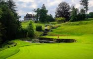 The Evian Resort Golf Club's lovely golf course situated in staggering French Alps.