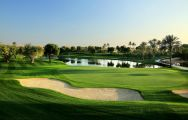 The Emirates Golf Club's lovely golf course situated in vibrant Dubai.
