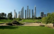 View Emirates Golf Club's scenic golf course within amazing Dubai.