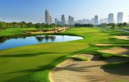 View Emirates Golf Club's scenic golf course in vibrant Dubai.
