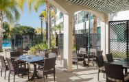 Formosa Park Hotel has one of the finest outdoor restaurants in Algarve