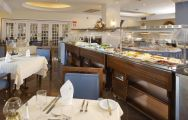 View Hotel Brisa Sol's lovely buffet restaurant within striking Algarve