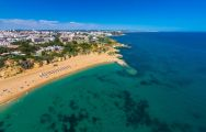 View the picturesque Auramar Beach situated in incredible Algarve.