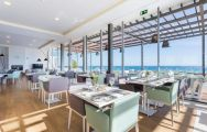 The Onyria Palmares Beach House Hotel's beautiful restaurant situated in incredible Algarve.