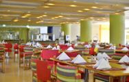 The Pestana Delfim Hotel's picturesque restaurant within astounding Algarve.
