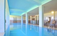The Pestana Dom Joao II Hotel's impressive indoor pool situated in spectacular Algarve.