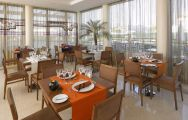 View Praia Sol Hotel's lovely restaurant within spectacular Algarve.