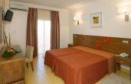 The Praia Sol Hotel's excellent double bedroom within magnificent Algarve.