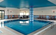 The Real Bellavista Hotel  Spa's impressive indoor pool situated in gorgeous Algarve.