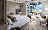 View Shangri La Le Touessrok Resort  Spa's scenic double bedroom in impressive Mauritius.