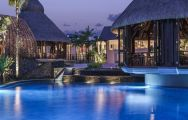 The Shangri La Le Touessrok Resort  Spa's picturesque main pool situated in impressive Mauritius.