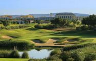 The Dom Pedro Victoria Golf Course's impressive golf course within impressive Algarve.