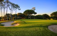 View Dom Pedro Vilamoura Old Golf Course's beautiful golf course in dramatic Algarve.