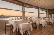 The Hotel Albatroz's picturesque restaurant with stunning sea views in pleasing Lisbon.