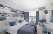 The Hotel Baia's scenic double bedroom situated in gorgeous Lisbon.
