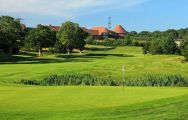 The East Sussex National Golf Club 1st green on the East Course