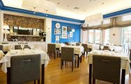 View Quinta da Marinha Resort Hotel's picturesque restaurant within striking Lisbon.