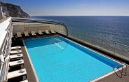 The Sana Sesimbra Hotel's lovely rooftop pool in pleasing Lisbon.
