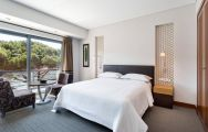 The Sheraton Cascais's scenic double bedroom in sensational Lisbon.