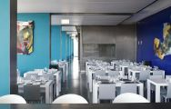 The Troia Design Hotel's impressive restaurant situated in vibrant Lisbon.