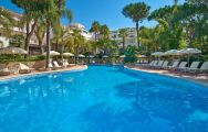 The Vale Do Lobo Resort's beautiful outdoor pool within brilliant Vale do Lobo.