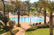 The Hotel Golf Almerimar's lovely main pool within brilliant Costa Almeria.