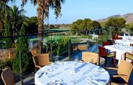 The Las Lomas Village Apartments' scenic restaurant terrace within dazzling Costa Blanca.