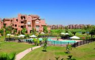 View Residences at Mar Menor Golf Resort's beautiful outdoor pool within dramatic Costa Blanca.