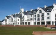 The Carnoustie Golf Links's impressive golf course in incredible Scotland.