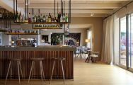 The Hotel Peralada Wine Spa  Golf Resort's impressive bar area situated in striking Costa Brava.