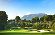 The El Prat Golf Club's picturesque golf course situated in stunning Costa Brava.