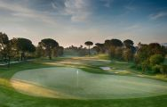 View PGA Catalunya Tour Course's beautiful 18th hole within spectacular Costa Brava.