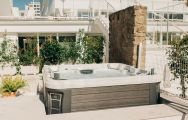 The Hotel Alay's relaxing jacuzzi situated in staggering Costa Del Sol.