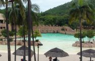 The Palace of the Lost City's impressive beach and wave pool in gorgeous South Africa.