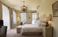 The Villa Padierna Palace Hotel's beautiful double bedroom within dazzling Costa Del Sol.