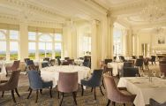 Trump Turnberry's lovely restaurant within impressive Scotland.