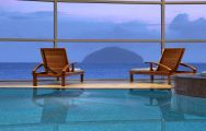 Trump Turnberry's picturesque sea view from the indoor pool in sensational Scotland.