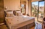 The Three Tree Hill Lodge's scenic double bedroom situated in gorgeous South Africa.