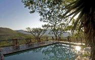 View Three Tree Hill Lodge's stunning main pool in fantastic South Africa.