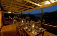 The Three Tree Hill Lodge's beautiful restaurant situated in marvelous South Africa.